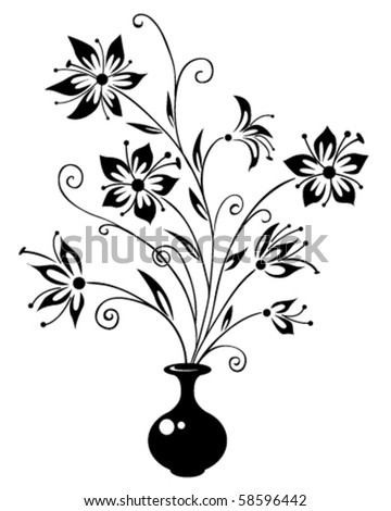 stock vector silhouette of a vase with a bouquet of flowers 58596442 toyota sequoia fuse box,sequoia free download wiring diagram,Fuse Box Yaris 2005