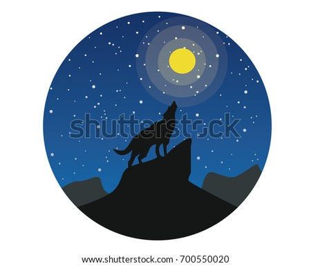 silhouette of a wolf on a
