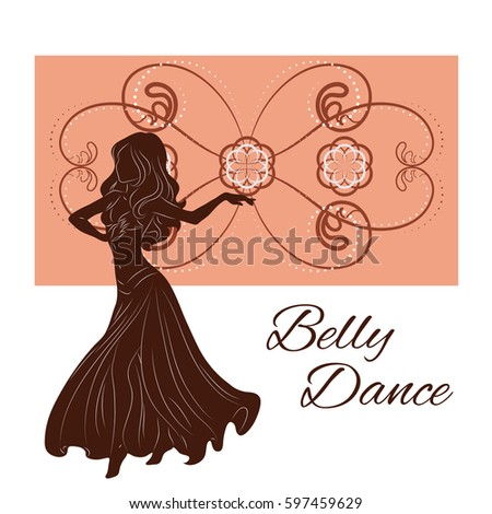 silhouette of a woman dancing