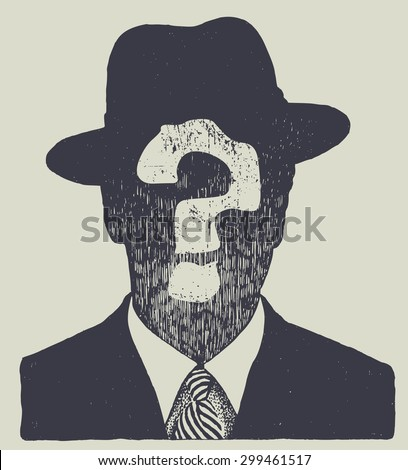 silhouette of an unknown man in