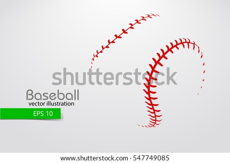 silhouette of baseball ball