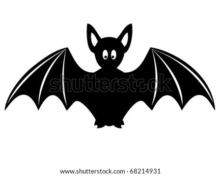 Silhouette of bat.