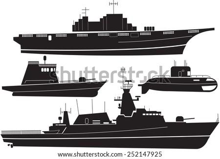 silhouette of battleship