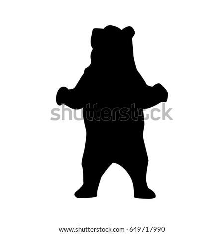silhouette of bear. bear...