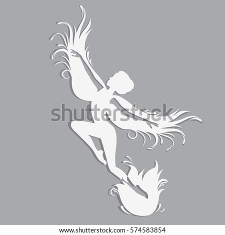 Royalty Free Abstract Dancing Girl Vector 120623473