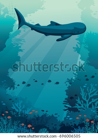 silhouette of big whale shark