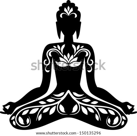 buddha silhouette - download free vector art, stock graphics & images