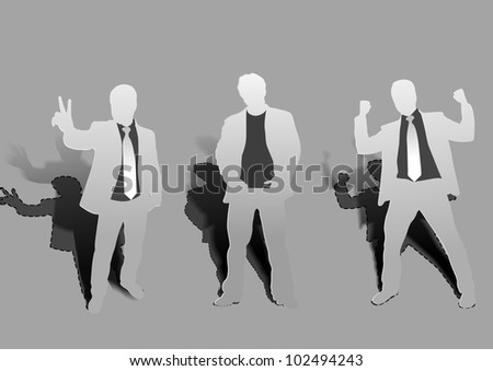 silhouette of business people vector illustration.