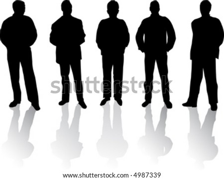 silhouette of business-peoples