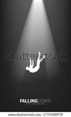 silhouette of businessman falling down in the light. Concept for  fail and accidental business Stock photo ©