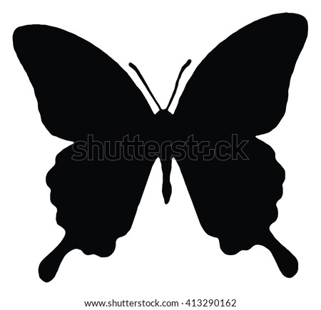 stock-vector-silhouette-of-butterfly-isolated-on-white-vector-illustration