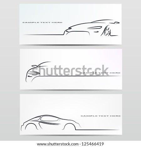 Shutterstock Silhouette of car. Vector illustration