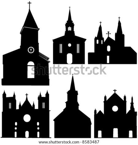 Free Vector  on Silhouette Of Church Vector Art   Stock Vector