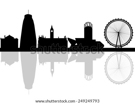 silhouette of city manchester