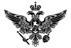 silhouette of coat of arms of russia russian empire