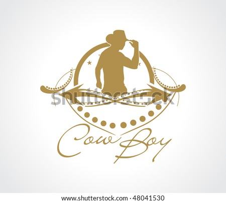 silhouette of cool mean looking cowboy, vector illustration