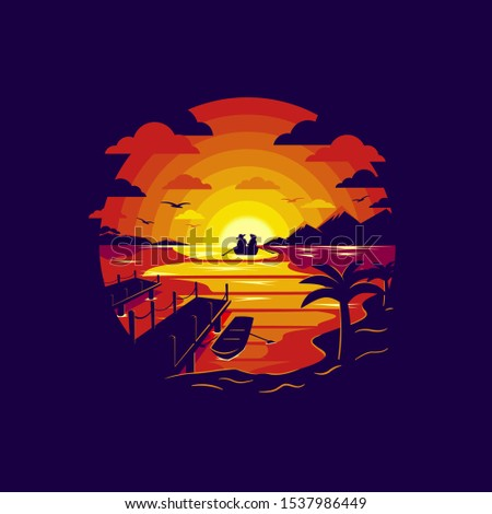 silhouette of couple in love in