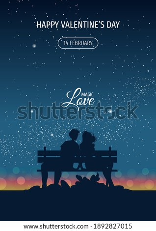 silhouette of couple in love on