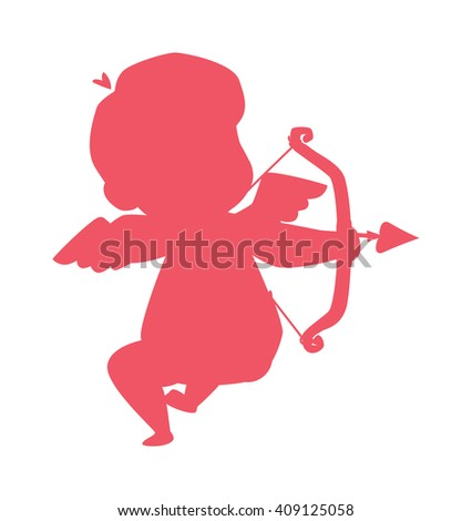 silhouette of cupid valentine