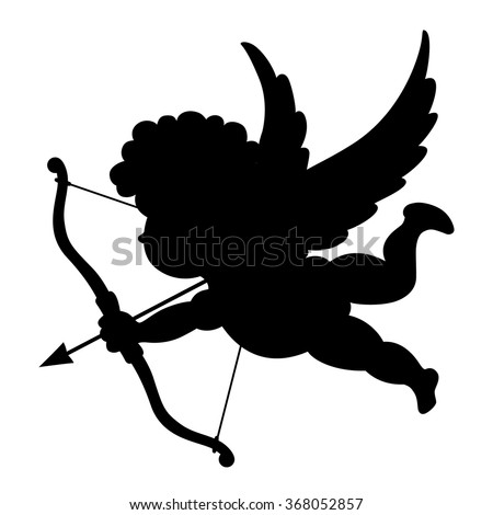silhouette of cupid vector