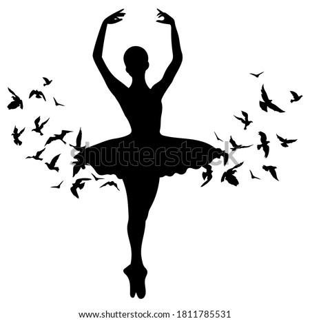 silhouette of dancing