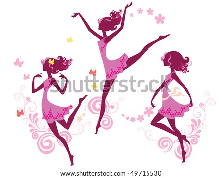 silhouette of dancing girl