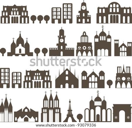silhouette of european...
