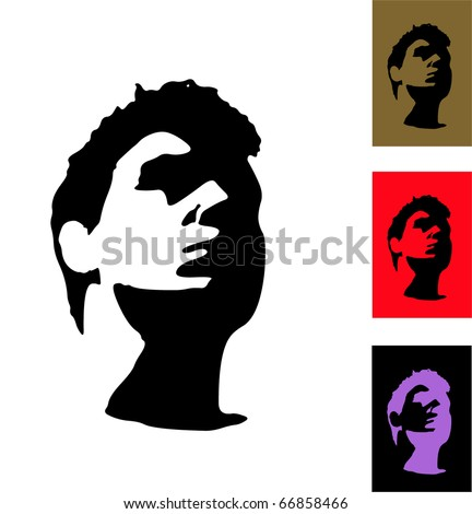 silhouette of face stranger