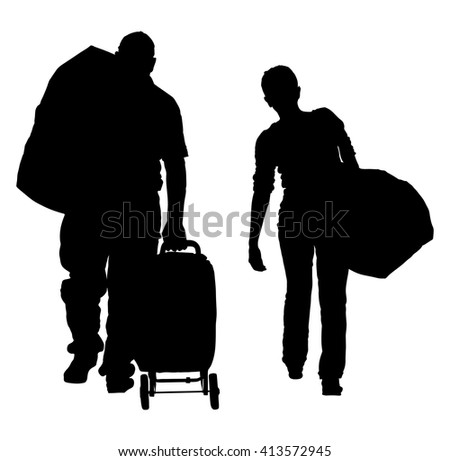 silhouette of family with