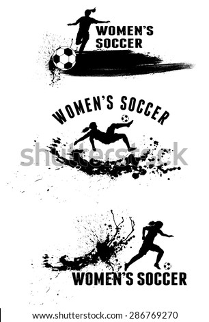 silhouette of female soccer