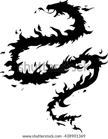 silhouette of fire snake