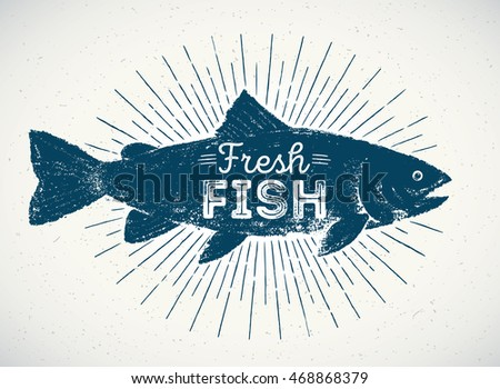 silhouette of fish in the