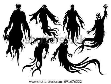 silhouette of flying evil