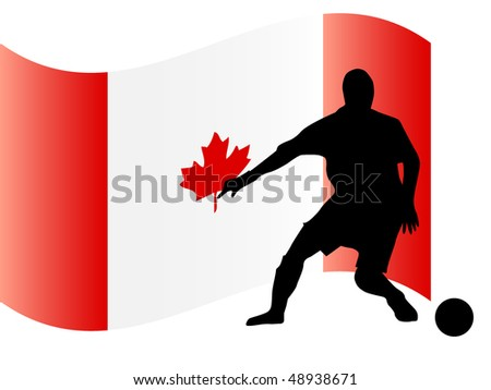 stock-vector-silhouette-of-footballer-in-front-of-the-canadian-flag-48938671.jpg