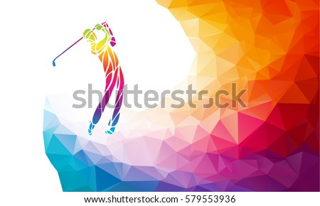 silhouette of golf player
