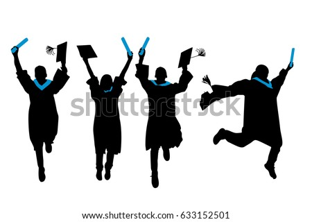 silhouette of graduation