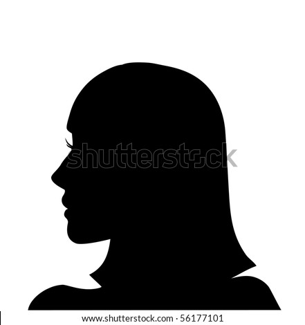 silhouette of head profile female
