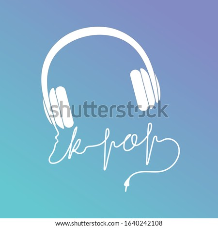 silhouette of headphones and a