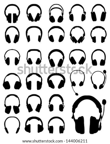 silhouette of headphones 3