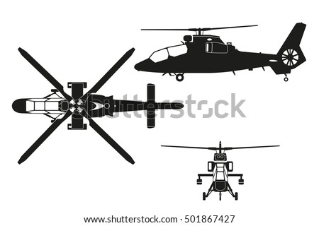 silhouette of helicopter the