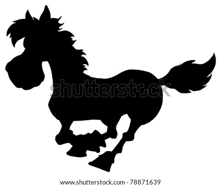 Silhouette Of Horse Running