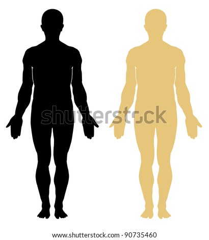 Silhouette of human. Male