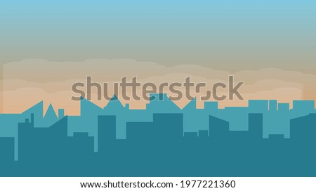 silhouette of industrial city