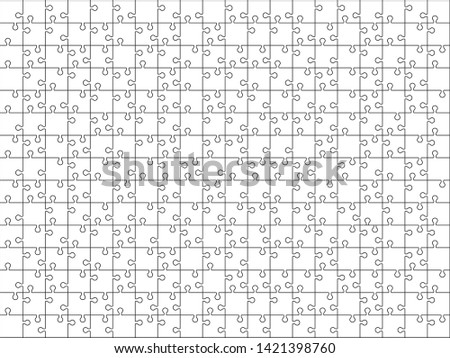 silhouette of jigsaw puzzles