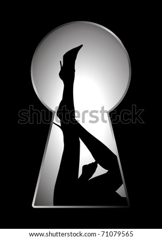 silhouette of legs of a woman