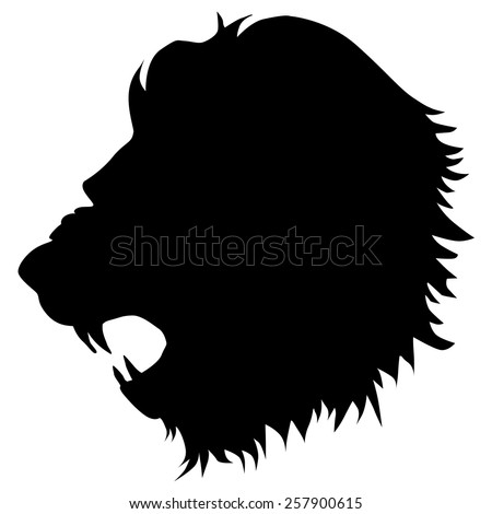 silhouette of lion