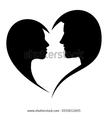 silhouette of loving man and
