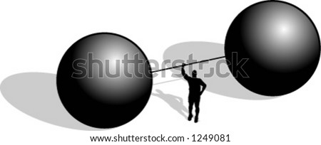 silhouette of man lifting