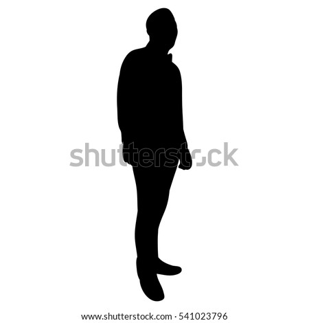 silhouette of man  vector, isolated