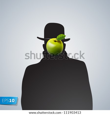 silhouette of man with face